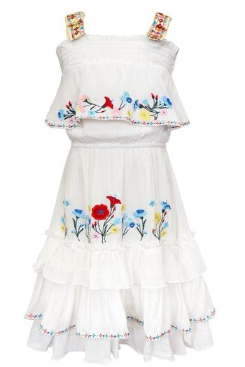 Hannah Banana Ruffle Tiered Midi Dress for Tweens (Size 14)
