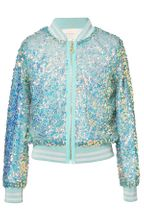 Hannah Banana Sequin Green Bomber Jacket (4,5,6X,12)