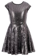 Hannah Banana Silver Sequin Dress (12 & 14)