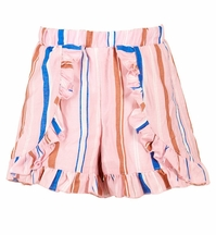 Hannah Banana Striped Shorts with Faux Wrap (4,6X,8)