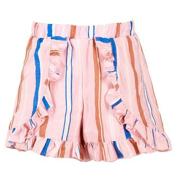 Hannah Banana Striped Shorts with Faux Wrap