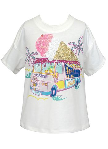Hannah Banana T-Shirt with Ice Cream Graphic (Size 14)