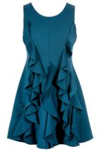 Hannah Banana Teal Ruffle Dress (Size 7)