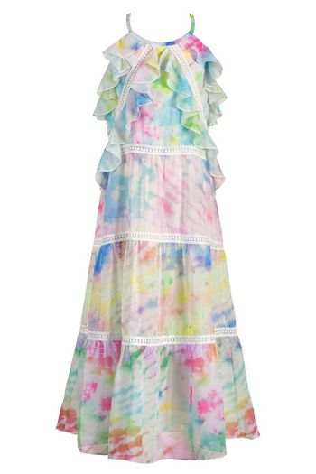 Hannah Banana Tie Dye Maxi Dress for Girls (Size 7)