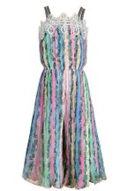 Hannah Banana Tropical Jumpsuit with Pleats for Tweens