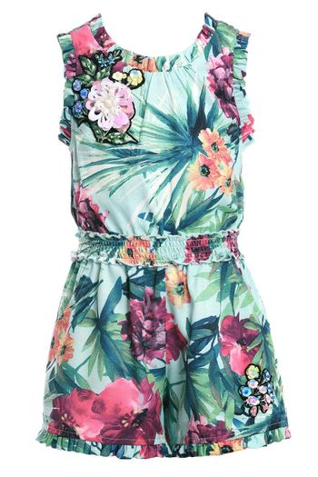 Hannah Banana Tropical Romper for Girls (4 & 5)