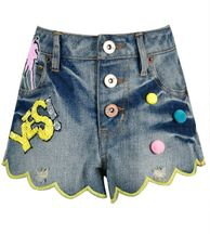 Hannah Banana Tween Denim Shorts with Graphics