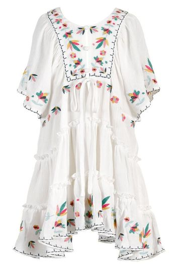 Hannah Banana White Dress for Girls with Embroidery SOLD OUT