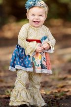 Harvest Time Dress and Pant Set (Size 4T)