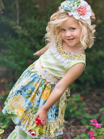 Haute Baby Blue Dress Floral