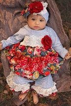 Haute Baby Coverall Autumn Blooms (Size 0Mos to 24Mos)