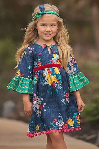 Haute Baby Fall Fantasy Boho Dress (4,6,7)