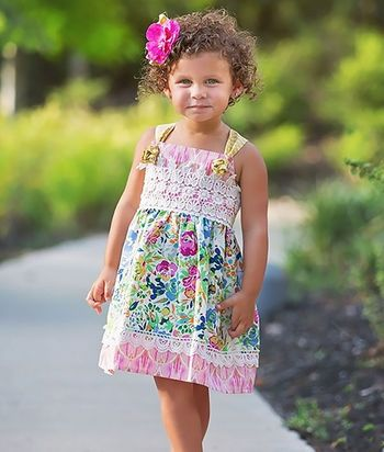 Haute Baby Floral Fantasy Girls Dress (5 & 7)