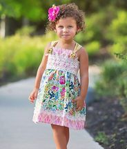Haute Baby Floral Fantasy Girls Dress