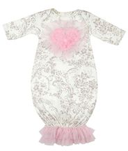 Haute Baby Hugs 'N Kisses Newborn Gown