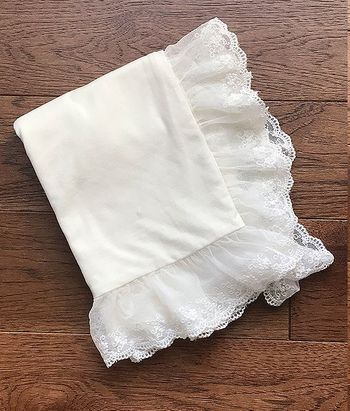 Haute Baby Ivory Heirloom Blanket with Lace SOLD OUT