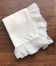 Haute Baby Ivory Heirloom Blanket with Lace