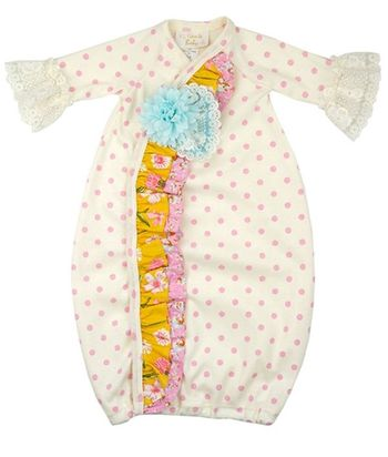 Haute Baby Merry Meadow Newborn Gown