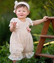 Haute Baby Peach Blush Bubble Romper