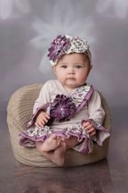 Haute Baby Plum Perfect Criss Cross Set (Size 6-9Mos)