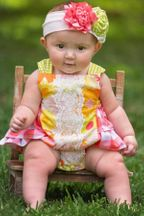 Haute Baby Pollys Picnic Sunsuit (3-6Mos,12Mos,18Mos)