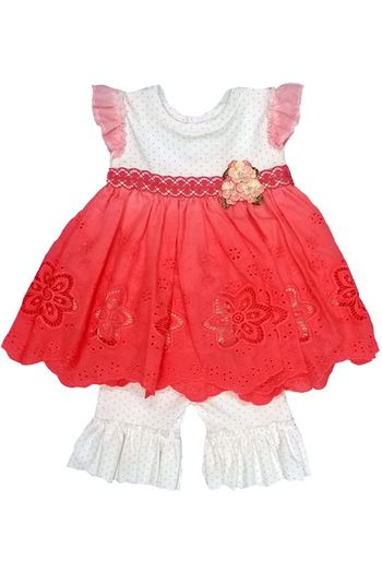 Haute Baby Summer Blooms Little Girls Swing Set (Sizes 18Mos to 6)
