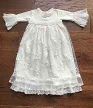 Haute Baby Take Me Home Gown with Pearls