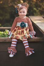 Haute Baby Vintage Bouquet Swing Set (6-9Mos,12Mos,18Mos,24Mos)