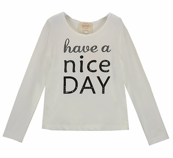 Have A Nice Day Tee in White (4,5,12,14)