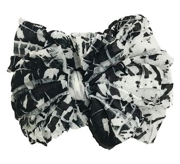 In Awe Couture Black and Ivory Abstract Headband