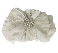 In Awe Couture Ivory Headband Rhinestone Center