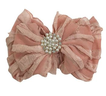 In Awe Rose Gold Headband with Pearl Center