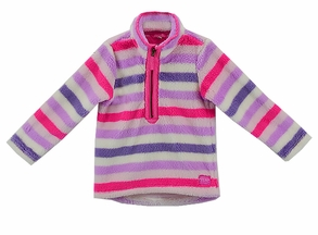 Joules Striped Fleece Pullover for Girls (2,3,4)
