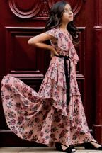 Joyfolie Celia Dress in Rose Floral (Size 7)