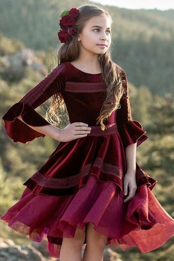 Joyfolie Ida Dress in Cranberry (Size 2)