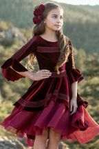 Joyfolie Ida Dress in Cranberry (2)