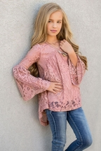 Joyfolie Julia Top in Dusty Pink (Size 4)