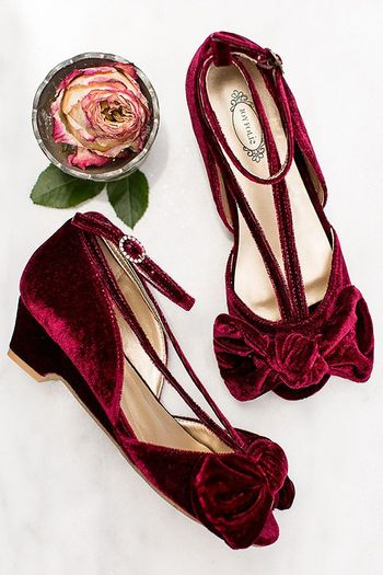 Joyfolie Lucia Heel in Berry Velvet (8 & 10)
