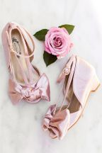 Joyfolie Lucia Heel in Blush Satin (6 & 7)