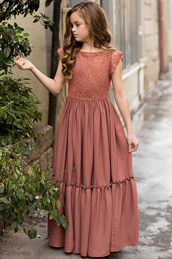 Joyfolie Macy Dress in Rust SOLD OUT