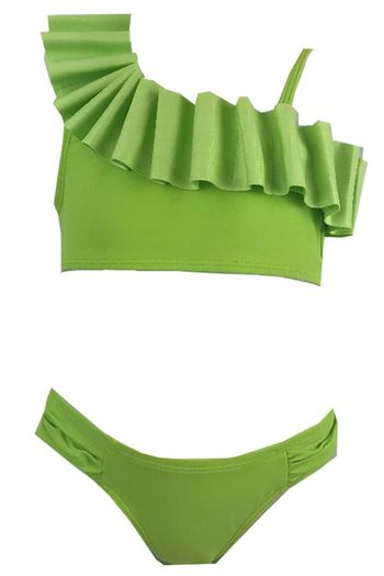 Kate Mack Green One Shoulder Two Piece (7,8,12)