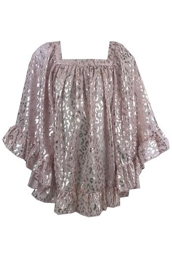 Kate Mack Pink and Gold Chiffon Coverup