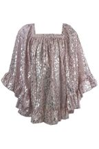 Kate Mack Pink and Gold Chiffon Coverup (Size 5)