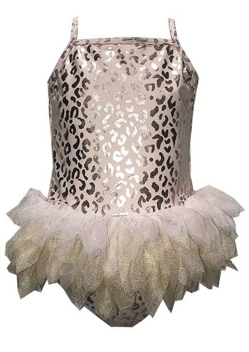Kate Mack Pink and Gold Tutu Tankini