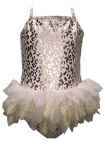 Kate Mack Pink and Gold Tutu Tankini (Sizes 3Mos to 4T)