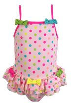 Kate Mack Pink Polka Dot Bow Swimsuit (2T,4T,5,7,8,10)