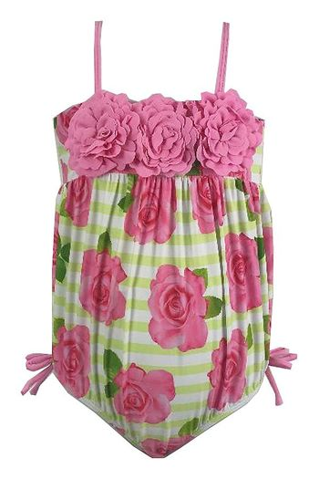 Kate Mack Rose Bubble Swimsuit for Baby