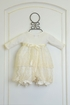 Katie Rose Ivory Baby Bloomer Dress with Flowers SOLD OUT Alternate View