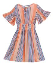 Kiddo Tween Summer Dress Pastel Stripe