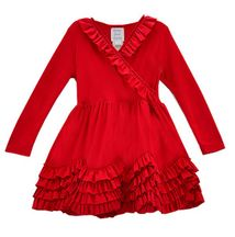 Lemon Loves Lime Grace Red Baby Dress (3-6Mos & 6-12Mos)
